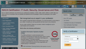 ISACA CISM Verification