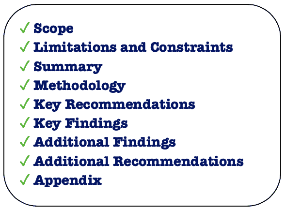 vulnerability assessment report format