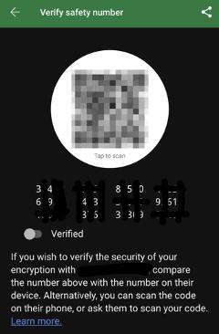 Signal Messenger Verify User Security