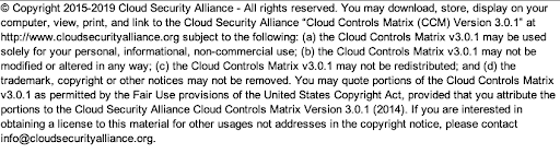 Screenshot of CSA License Agreement