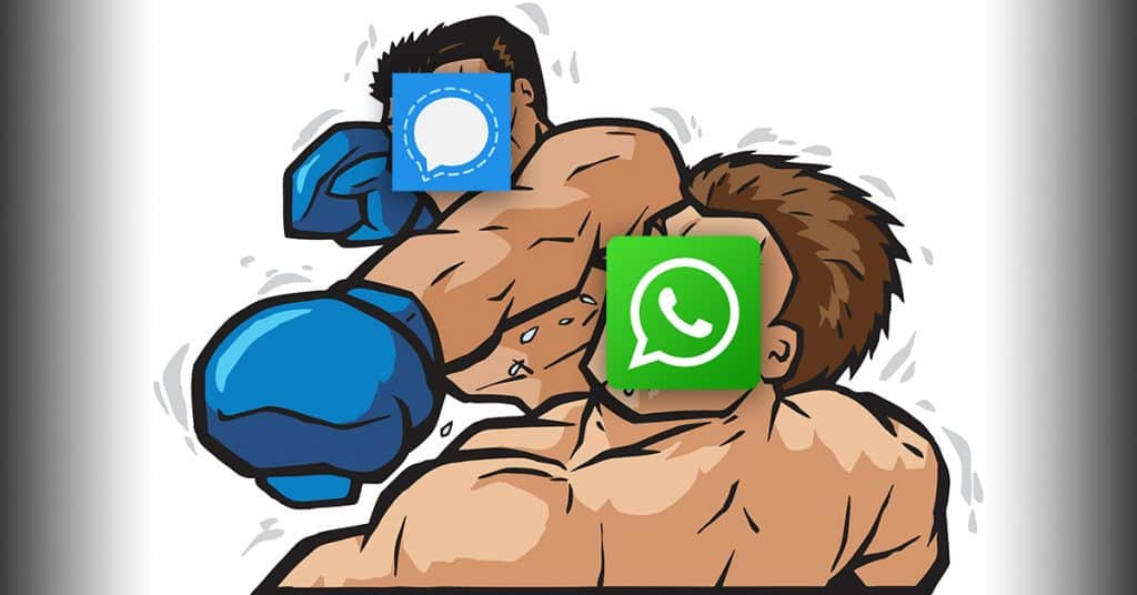 Signal punching WhatsApp in the face.