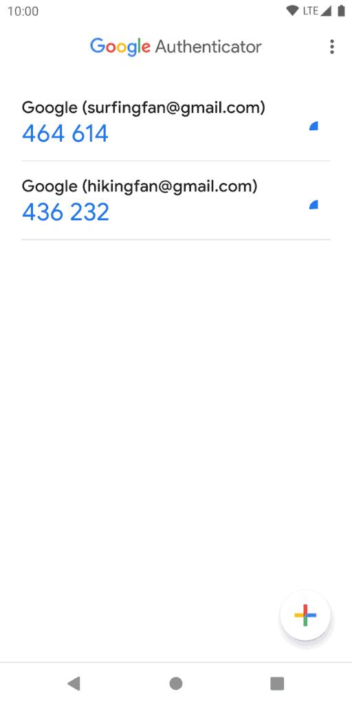 Google Authenticator Example